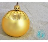Irisa Banky sklenené zlaté mat, zdobené, sada 7 cm 12 kusov