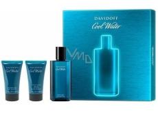 Davidoff Cool Water Men toaletní voda 75 ml + sprchový gel 50 ml + tělové mléko 50 ml, dárková sada