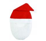 Mikuláš / Santa vianočné čiapky s fúzy