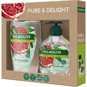 Palmolive Pure & Delight Pomegranate sprchový gél 250 ml + Pure & Delight Pomegranate tekuté mydlo dávkovač 300 ml, kozmetická sada