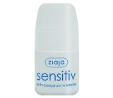 Ziaja Sensitive Creamy guličkový antiperspirant dezodorant roll-on pre ženy 60 ml