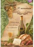 Albi Hracie prianie do obálky K narodeninám Vínečko biele 14,8 x 21 cm