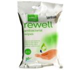 Well Done Rewell Antibakteriální vlhčené ubrousky 20 kusů