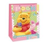 Ditipo Disney Dárková papírová taška dětská M Medvídek Pú, prasátko, motýlek 18 x 10 x 22,7 cm