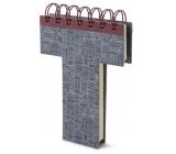 If Alphabooks Note Books Zápisník v tvare písmena T 91 x 14 x 124 mm
