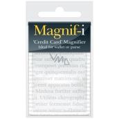 If Magnifier Credit Card size Lupa kreditná karta 10,6 x 6 x 0,2 cm
