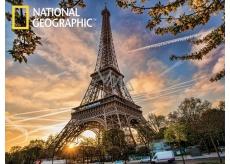 Prime3D Plakát Eiffelova Věž - Paříž 39,5 x 29,5 cm