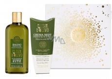 Erbario Toscano Olivový olej sprchový gél 250 ml + krém na ruky 100 ml, luxusné kozmetická sada