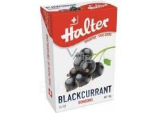 Halter Blackcurrant - Čierne ríbezle cukríky bez cukru, s prírodným sladidlom Izomalt, vhodné aj pre diabetikov 40 g