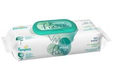 Pampers Pure Aqua vlhčené obrúsky z bio bavlny, bez alkoholu a parfumácie pre deti 48 kusov