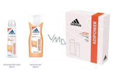 Adidas Adipower antiperspirant dezodorant sprej pre ženy 150 ml + sprchový gél 250 ml, kozmetická sada