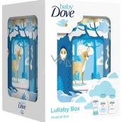 Dove Baby Rich Moisture šampon na tělo a vlasy pro děti 200 ml + tělové mléko 200 ml + krém na opruzeniny 45 g + hrací skříňka, kosmetická sada