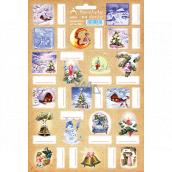 Arch Chaloupka béžové vianočné samolepky na darčeky 19 etikiet 1 arch