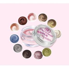 Dermacol Pearl Touch Eyeshadow vysoce třpytivé pěnové oční stíny 4,9 g odstín 2