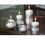 Lima Elegance White sviečka strieborná valec 60 x 90 mm 1 kus