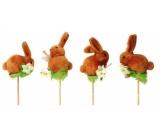 Zajac hnedý zápich 7 cm + špajle