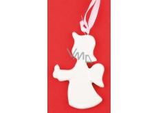 Anděl keramický na zavěšení 7,5 cm