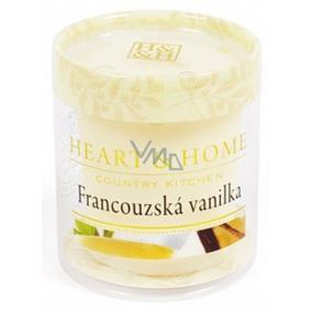 Heart & Home Francúzska vanilka Sójová vonná sviečka bez obalu horí až 15 hodín 53 g
