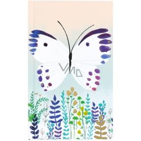 Albi Bloček kapesní linkovaný Motýl 96 stran 9,5 cm x 15,5 cm x 0,9 cm