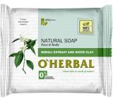 O Herbal Natural Neroli a biela hlina toaletné mydlo 100 g