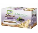 Fytopharma Zázvor s čiernymi ríbezľami bylinné - ovocný čaj pre normálnu činnosť cievnej sústavy a osvieženie 20 x 2 g