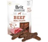 Brit Jerky Sušené masovej maškrty s hovädzím a kuraťom pre dospelých psov 80 g