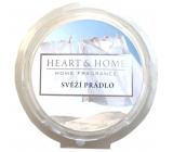 Heart & Home Svieže bielizeň Sójový prírodný voňavý vosk 26 g