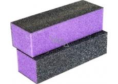 Pilník na nehty 3 stranný blok fialovo-černý 9,5 x 3,3 x 2,5 cm 5312