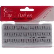 Absolute Cosmetics Eye Lahes Long Umělé nalepovací trsy 14110-L černé 60 trsů