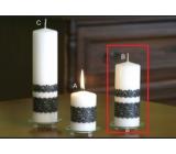 Lima Čipka sviečka biela valec 60 x 150 mm 1 kus