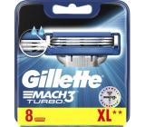 Gillette Mach3 Turbo náhradné hlavice 8 kusov