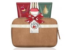 Baylis & Harding Moruša, Imelo a Vianočný stromček sprchový krém 100 ml + telové mlieko 50 ml + krém na ruky 50 ml + béžová toaletná taška z umelého semišu kozmetická sada