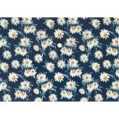 Puzdro na dokumetu A4 - Kvety na modrej