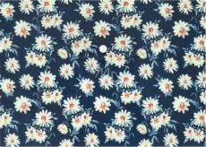Albi Original Puzdro na dokumenty Kvety na modrej A4 - 210 x 297 mm