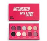 Makeup Obsession Intoxicated By Love Paletka 10 pigmentovaných metalických, trblietavých a prechodových očných tieňov 13 g