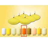 Lima Plávajúce šošovka sviečka oranžová 50 x 25 mm 6 kusov