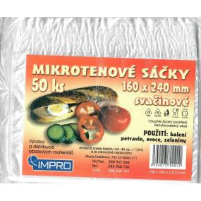 IMPRO Sáčok mikroténové desiatový 12my 160 x 240 mm 50 kusov