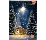 Albi Svietiace prianie do obálky K Vianociam Betlehem v krajine 14,8 x 21 cm