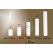 Lima Gastro hladká sviečka biela valec 50 x 100 mm 1 kus