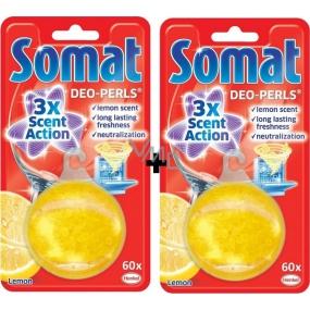 Somat Deo Perls Lemon osviežovač umývačky riadu 2 x 20,5 g