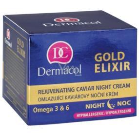Dermacol Gold Elixir Omladzujúci kaviárový nočný krém 50 ml