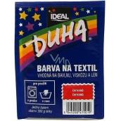 Dúha Farba na textil číslo 01 červená 15 g
