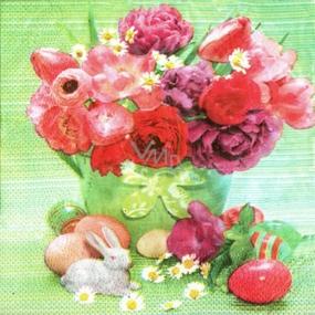 Ditipo Papierové obrúsky 3 vrstvové 33 x 33 cm 20 kusov Veľkonočné Kytky