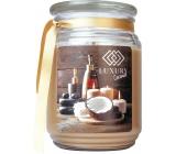 Bohemia Gifts & Cosmetics Luxury Coconut dárková vonná svíčka ve skle doba hoření 105 -120 hodin 510 g