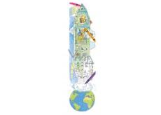 Monu Veselý meter Raketa skladačka k vymaľovanie pre deti 5+ 160 x 40 cm