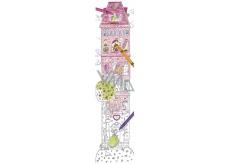 Monu Veselý meter Veža skladačka k vymaľovanie pre deti 5+ 160 x 40 cm
