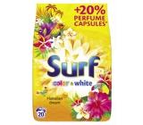 Surf Color & White Hawaiian Dream prášok na pranie farebného i bielej bielizne 20 dávok 1,4 kg