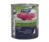 Dr. Clauders Kačica, mäso a sladký zemiak kompletné krmivo 94% mäsa pre psov 800 g