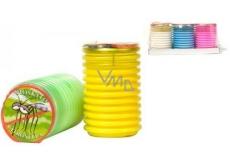 Citronella Repelentný vonná sviečka proti komárom, v plaste, farebný mix 70 x 110 mm 1 kus