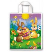 Press Veľkonočné igelitová taška s uchom Zajačikovia 45 x 50 cm 1 kus